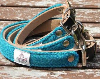 Leather collar, Harris Tweed dog collar, dog walking, leather collar, best friend collar, buckled collar