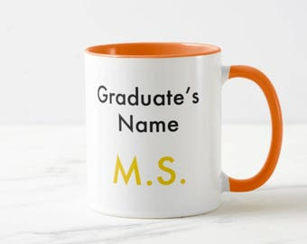 Masters Graduation Mug // Academic Mug - 11 or 15oz