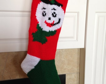 Snowman Hand Knitted