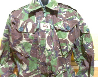 Vintage Smock Combat Temperate DPM Vintage British Military Jacket Camo Military Jacket