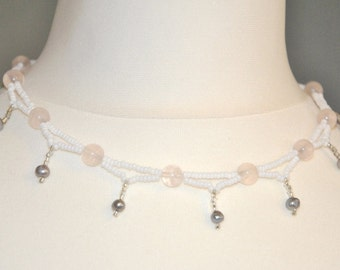 Renaissance chain Rose Quartz