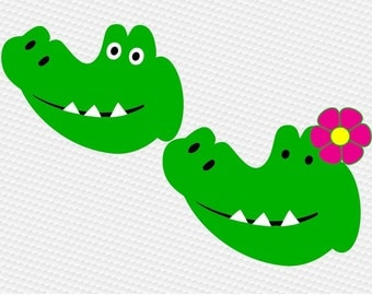 Alligator head SVG Clipart Cut Files Silhouette Cameo Svg for Cricut and Vinyl File cutting Digital cuts file DXF Png Pdf Eps vector