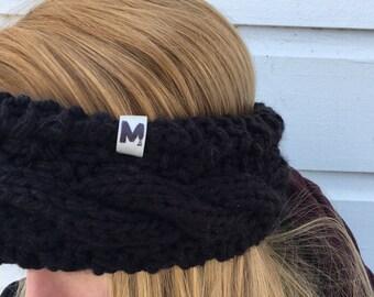 Black - Acrylic Braided headband - teen/adult