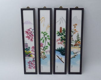 Vintage Japanese Hand Painting on porcelain Tile