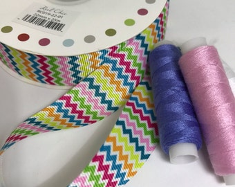 Rainbow chevron ribbon, bright, funky, ribbon,