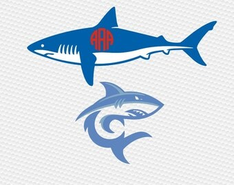 Shark svg, Shark silhouette, Shark clipart, Shark vector, Jaw svg, Fishing svg, Ocean svg, Cricut, Cameo, Clipart, Svg, DXF, Png, Pdf, Eps