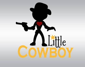little cowboy rodeo SVG Clipart Cut Files Silhouette Cameo Svg for Cricut and Vinyl File cutting Digital cuts file DXF Png Pdf Eps