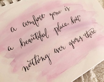 Inspirational Watercolor Calligraphy Print