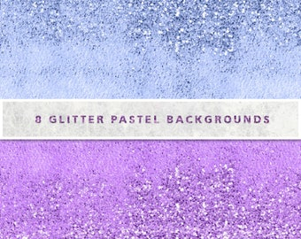 Pastel Glitter Digital Paper, Digital Paper, Scrapbook Paper, Pastel Glitter Background, Glitter Paper, Rainbow Glitter,Commercial Use