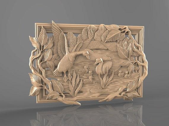 D stl model for cnc router engraver carving machine