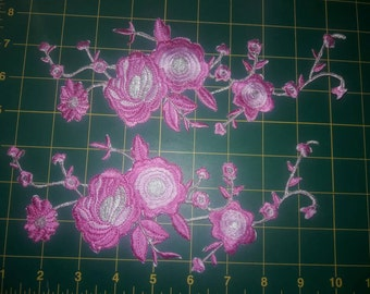 Beautiful embroider Aplique Rosa