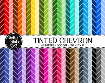 50% off SALE!! 48 Tinted Chevron Digital Paper • Rainbow Digital Paper • Commercial Use • Instant Download • #CHEVRON-101-2-TINT