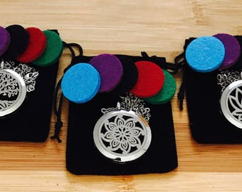 Aromatherapy Diffuser Locket/Pendant 30mm (Lotus flower- Tree of life - Flower)