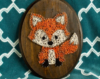 8.5 x 11.5 Fox String Art