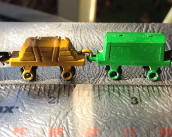 Miniature Metal Toy Freight Train for Dollhouse.