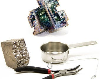 Bismuth Crystal Kit- Grow your own Bismuth Crystal, Gift for Him, Gift for Her, DIY Craft Kit, DIY Gift, Minerals and Rocks, Kit, Geode