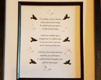 sentimental poem box frame