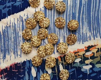 22 vintage gold textured buttons c1980s.