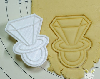 Diamond Ring Candy Cookie Cutter and Stamp Set