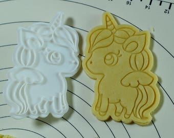 Cute unicorn Cookie Cutter and Stamp