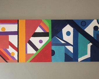 Ying & Yang, acrylic on canvas, 40cmx100cm