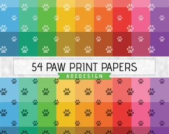 PAW PRINT pattern, dog digital paper, puppy scrapbook paper, printable paper pack, pet background, animal backdrop, paw print paper pack