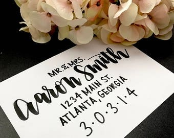 Custom Wedding and Event Invitations // Calligraphy // Envelope Addressing // Hand Lettering // Brush Lettering // Personalized