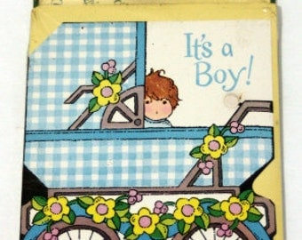 Vintage Baby Announcements, Baby Boy Announcements, Welcome Baby Announcements, Baby Boy Cards, Vintage Baby Cards, Birth Announcements
