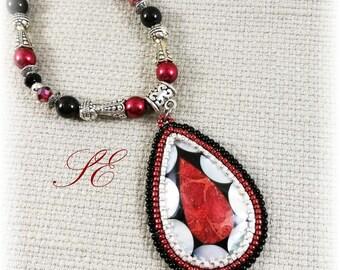 Choker Gothic Lolita, ooak handmade.
