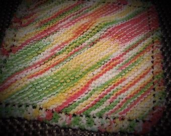 Hand knit dish cloth