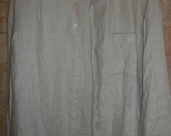 Vtg ermenegildo zegna 100% lino  mens shirt sz XL large