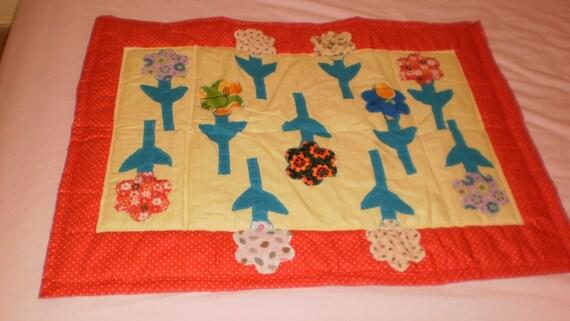 Aplicaciones de flores color de colcha por MarshaQuiltsBoutique