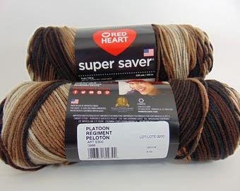 Platoon -  Red Heart Super Saver variegated yarn 100% acrylic  worsted weight - 1802