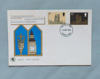 British First Day Cover - Commonwealth Parliamentary Association Conference - 12th Sept 1973 (Two Stamps)