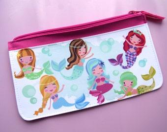 Mermaid bubbles pencil case girly back to school homework