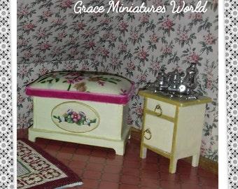 Trunk storage chest for Dollshouse Dolls House/Chest/Coffre maison de poupees/Baul casitas de muñecas