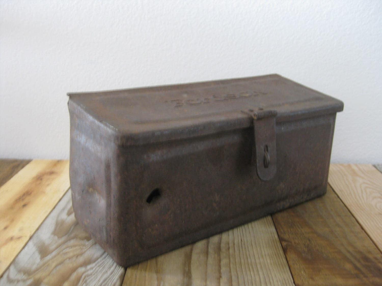Farm Tool Box Organizer : Rustic fordson tool box heavy metal farm tractor storage