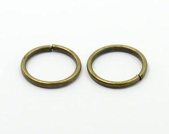 Antique Bronze Jump Ring 10MM  QTY 100  (JR-401)