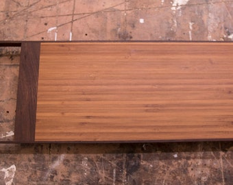 Layered Bamboo and Ipé Cutting/Serving Board
