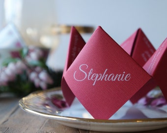 Wedding place cards | Origami place cards | Unique placecards | Custom place cards | Name cards | Seating cards | Fortune-teller place cards