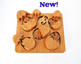Wooden Toys  For Toddlers Gift Babies Birthday Gift Toys for Kids  Natural Animals Toys Dinosaurs  Set in box