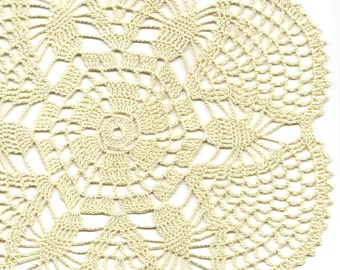 Vintage Style Crochet Lace Doily Hand Crocheted Doilies Handmade Cotton Doily Table Mat Wedding Interior Dexcor Natural Cream Round Doilies
