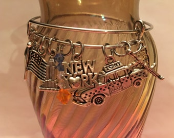 I Love New York/New York City Charm Bangle Bracelet
