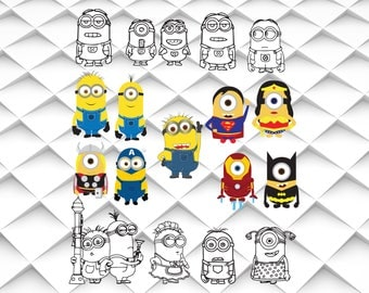 Despicable me svg,Minions svg,png,jpg,eps for Print/Silhouette Cameo/Cricut and Many More