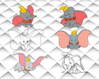 Dumbo svg,png,jpg,eps for Print/Silhouette Cameo/Cricut and Many More