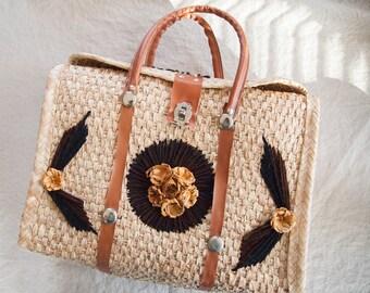 Vintage Woven Mexico Travel Bag