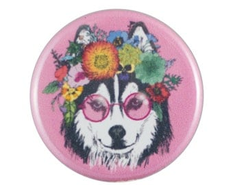 "Beautifully Husky 1.25"" Button Pin"