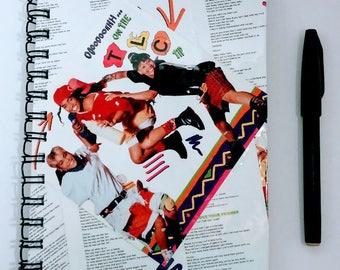 TLC Notebook, unique journal, cool journal, fan art, cool journal, lined journal, lined notebook, small notebook, small journal, TLC