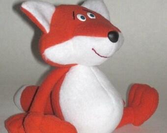 fox sewing pattern, fox Pattern, pattern fox, pattern, fox soft toy pattern, Doll sewing pattern, sewing patterns