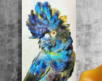 Parrot oil painting print,Giclee print,Digital painting,Wall decor,Wall art,Bird painting,